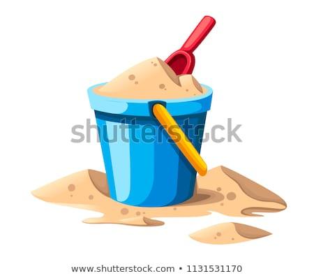 Wiadro piasku obiektu ilustracja tle sztuki Zdjęcia stock © bluering