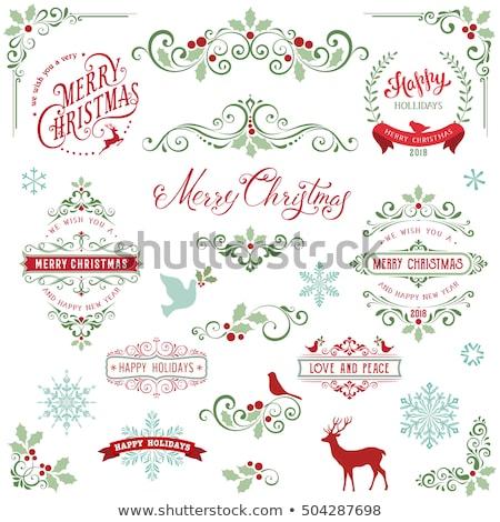 Stock fotó: Karácsony · tekercs · öreg · pergamen · papír · tél