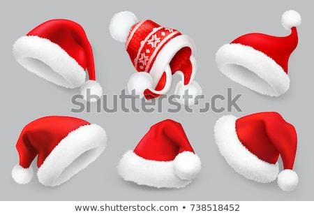 Santa Hat Christmas Cartoon Design Element Stock photo © Krisdog