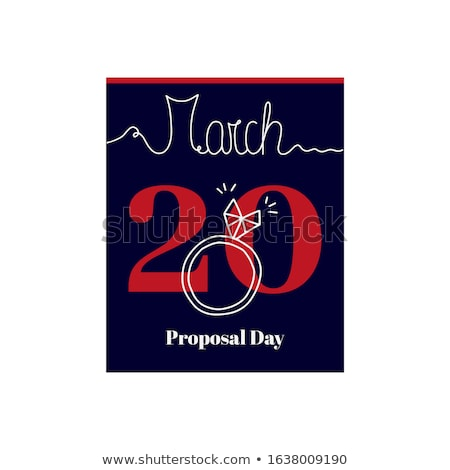 diamond ring and calendar sheet on valentines day Stock photo © dolgachov
