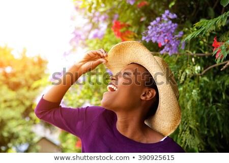 Belo jovem africano americano mulher seis Foto stock © wavebreak_media