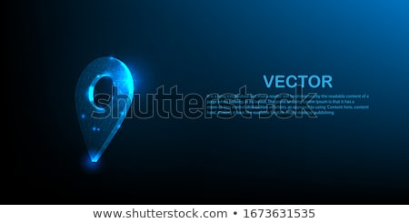 3d map pointer. Blue navigator symbol isolated on white background. Vector illustration Stock photo © olehsvetiukha