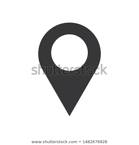 Map pointer icon in flat style. Navigator symbol isolated on white background. Vector illustration Stock photo © olehsvetiukha