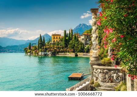 湖 イタリア パノラマ 表示 風景 背景 ストックフォト © ShustrikS