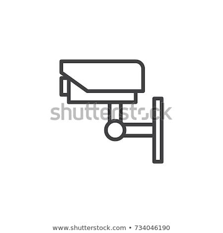 Video surveillance CCTV Camera icon flat Stock photo © smoki