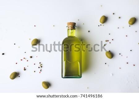 ボトル オリーブオイル 緑 オリーブ 木製 色 ストックフォト © Alex9500