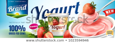 Dairy Product in Market, Fresh Yogurt Isolated Stock photo © robuart