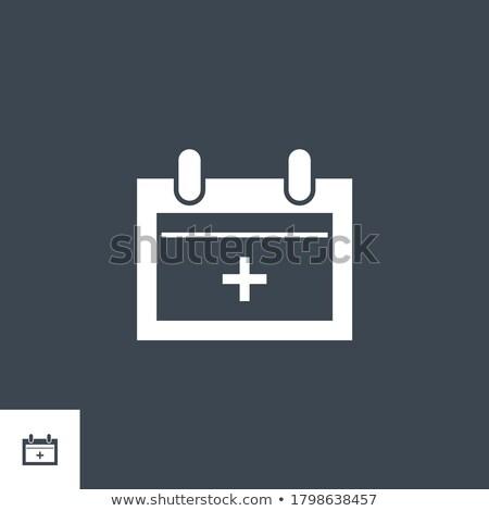 Annuel médicaux vecteur icône isolé blanche Photo stock © smoki