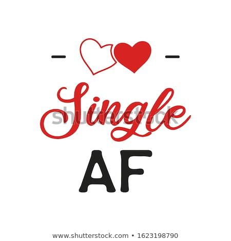 Engraçado dia dos namorados tipografia logotipo emblema citar Foto stock © JeksonGraphics