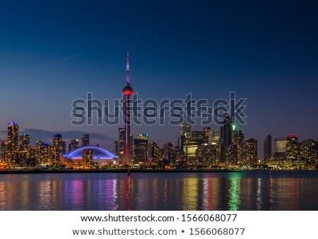 Toronto horizonte gris edificios cielo azul Foto stock © ShustrikS