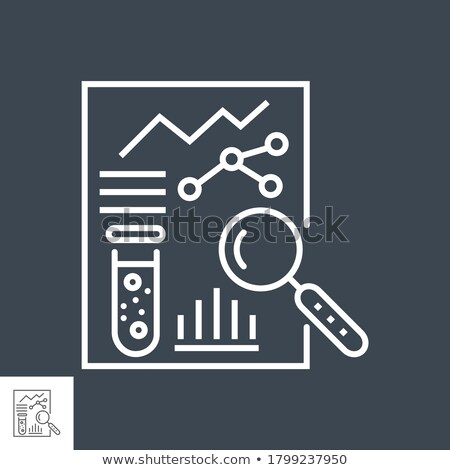 Medical analytics Related Vector Thin Line Icon Stock photo © smoki