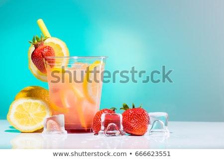 Summer strawberry lemonade with lemon Stock photo © furmanphoto