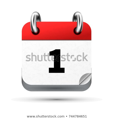 Bright realistic icon of calendar with 1st january date isolated on white Stock photo © evgeny89