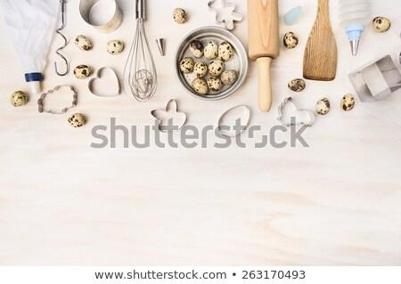 Pollo huevos batidor vintage alimentos diseno Foto stock © furmanphoto