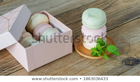 Gift box with homemade pastel multi color marshmallows. Stock photo © Illia