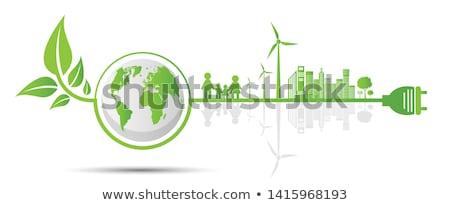 Durable affaires résumé respectueux de l'environnement puce ville Photo stock © RAStudio