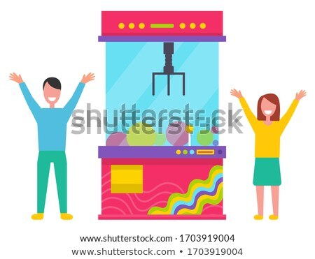 Children Catching Toys with Robotic Claw Machine Stock photo © robuart