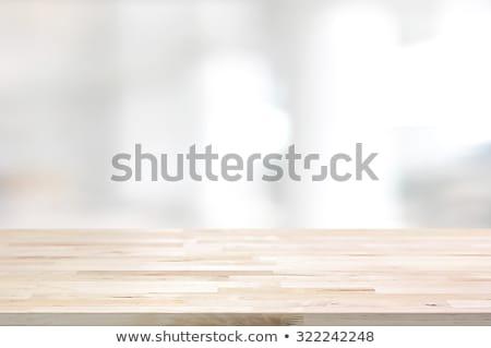 Cinza mesa de madeira exibir montagem produtos turva Foto stock © artjazz