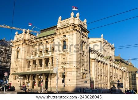 National Theatre in Belgrade, Serbia Stock photo © borisb17