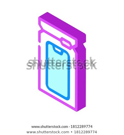 Waterproof Material Phone isometric icon vector illustration Stock photo © pikepicture