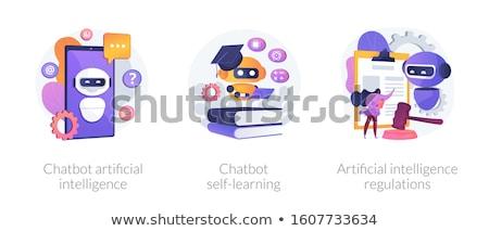 Dialog with chatbot vector concept metaphor Stock photo © RAStudio