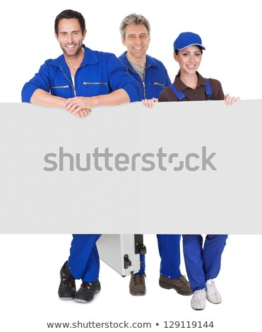 female plumber with advertising board stock photo © photography33