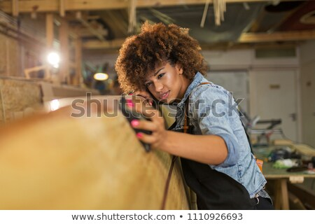 Woman entrepreneur and woodworker Stock photo © photography33
