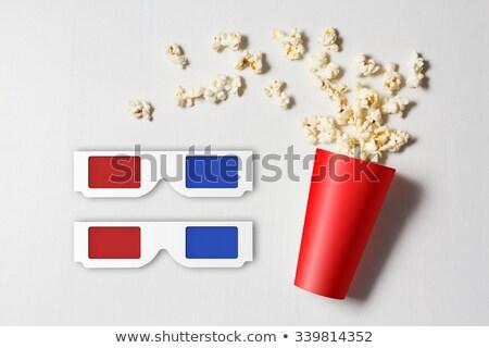 czerwony · popcorn · polu · odizolowany · biały · 3d - zdjęcia stock © nobilior