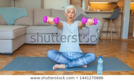 portrait of a beautiful woman doing exercice stock photo © wavebreak_media