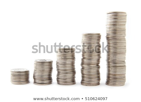 Stock photo: Five stacks of coins