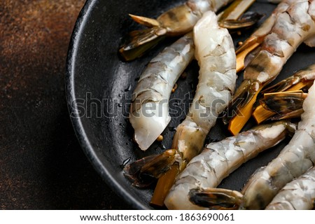 seafood skewers are ready to cook stock photo © ozgur