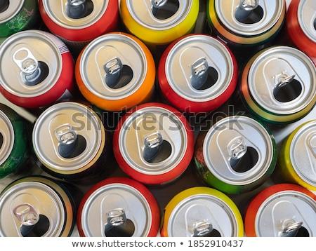 Vízszintes üres konzervdoboz újrahasznosítás fém tiszta Stock fotó © wavebreak_media