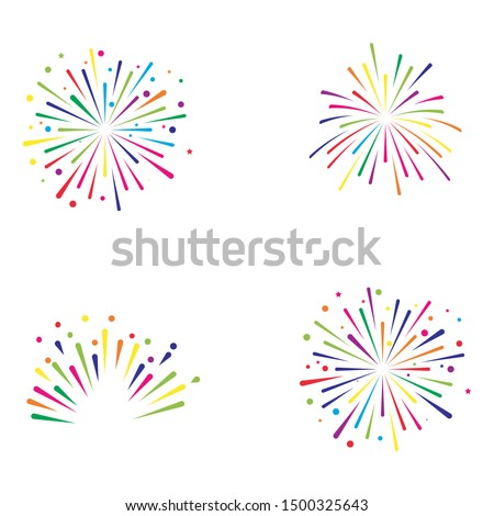 Vector icon fire works Stock photo © zzve