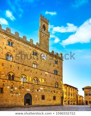medieval palazzo dei priori in volterratuscany stock photo © anshar