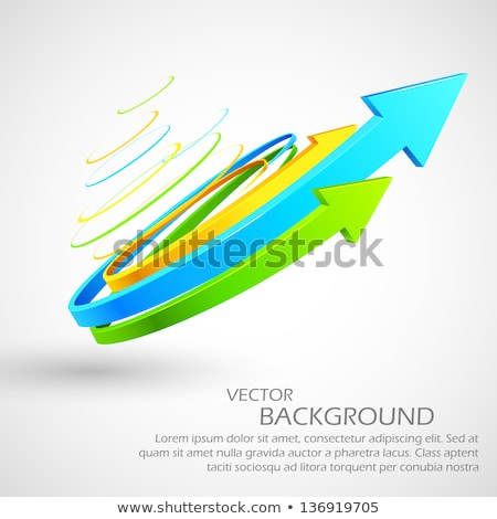 Illustration Of Twisted Arrow Moving Forward Stockfoto © Vectomart
