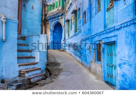 erőd · kék · város · India · ház · épület - stock fotó © mikko