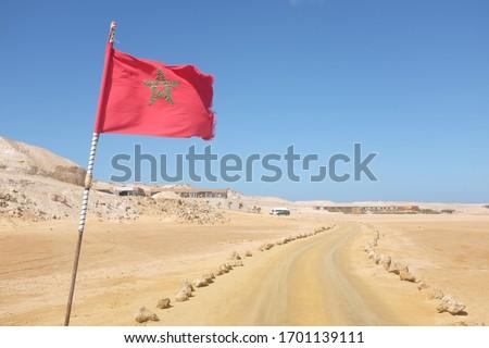 Vlag westerse sahara kaart star land Stockfoto © Ustofre9