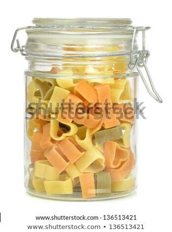 Gedroogd pasta opslag jar veelkleurig glas Stockfoto © stryjek