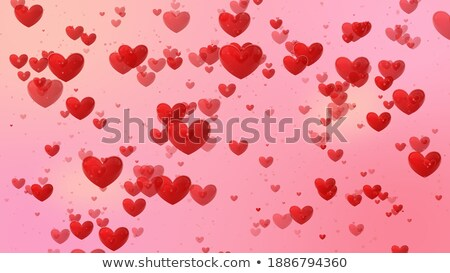 Heart Balloons Floating Show Marriage Anniversary And Romanticis Stock photo © stuartmiles