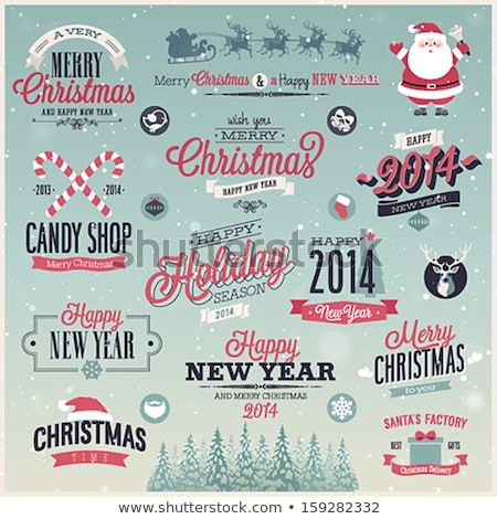 декоративный Рождества место текста дизайна Сток-фото © elenapro