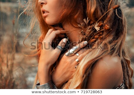 Young girl with dreadlocks outdoors Stock photo © vlad_star