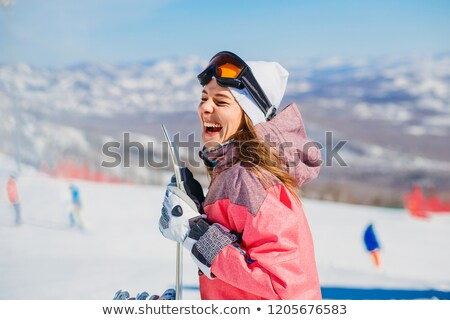 Happy snowboarder Stock photo © pressmaster