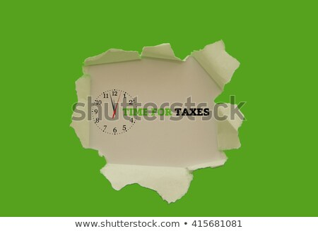tax time torn paper stock photo © ivelin