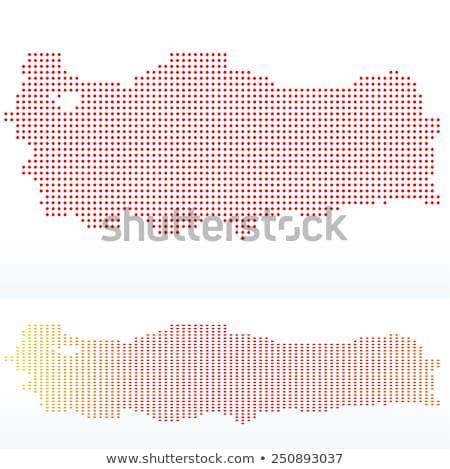 Mapa república Turquia ponto padrão vetor Foto stock © Istanbul2009