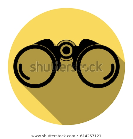 binocular yellow vector icon design stock photo © rizwanali3d