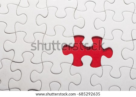 Сток-фото: Tax - Jigsaw Puzzle With Missing Pieces