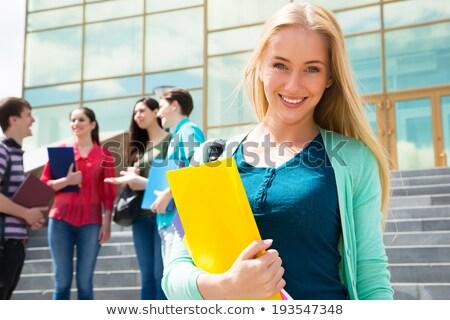 cool · modny · młodych · student · dziewczyna · odkryty - zdjęcia stock © stryjek