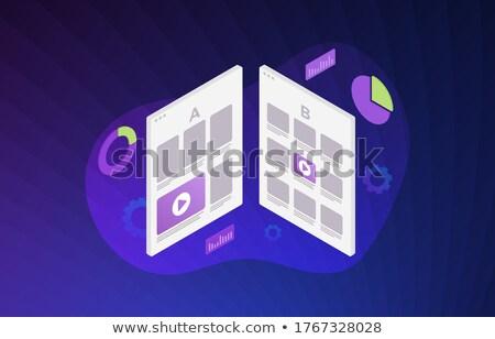 Legjobb választás ibolya vektor ikon terv digitális Stock fotó © rizwanali3d