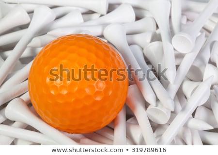 белый мяч для гольфа оранжевый гольф мяча Сток-фото © CaptureLight