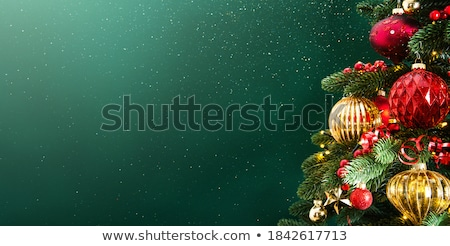 merry christmas in green frame, greeting card Stock photo © marinini